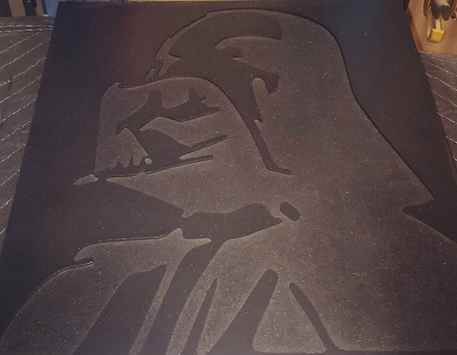 Darth Vadar Wood Plaque