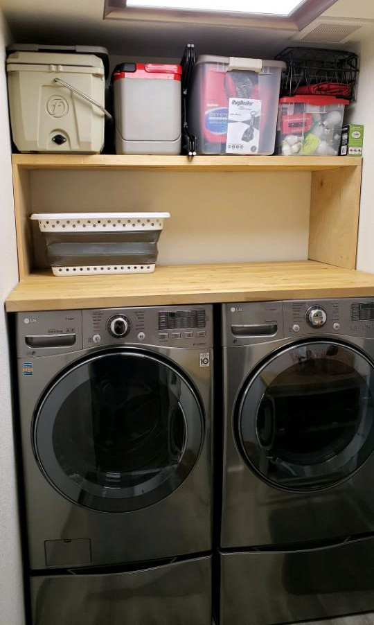Washer/Dryer Butcher Block Table Topper
