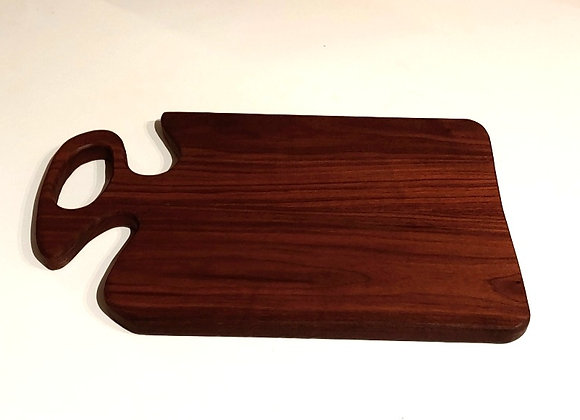 Walnut Charcuterie Board w/ Carved Handle - 15 Inches