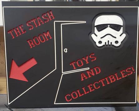 Toy Box Hero's Stash Rm Sign