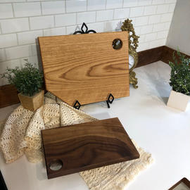 Walnut & White Oak Cutting Board