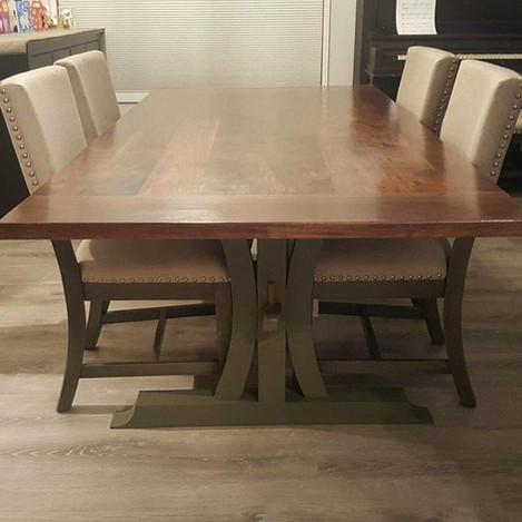 Custom Walnut Table with Breadboard Ends