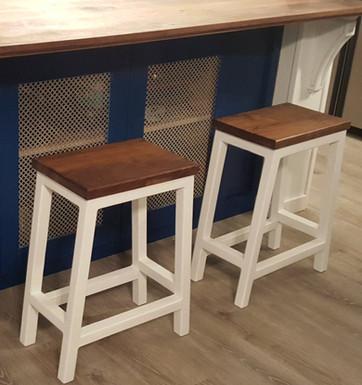 Walnut Seat Barstools