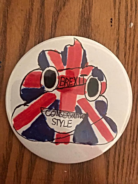 Brexit Poop Badge