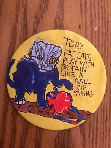 Tory Fat Cats Badge