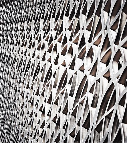 Precision waterjet cut interior panels