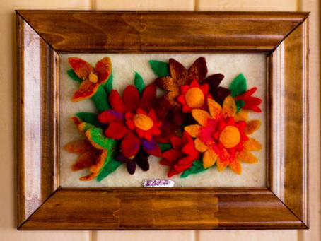 """Lorena Correa: """"Floral de lana"""""""