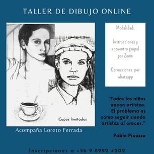 """María Ferrada: """"Taller de Acompañamiento de Dibujo online."""""""
