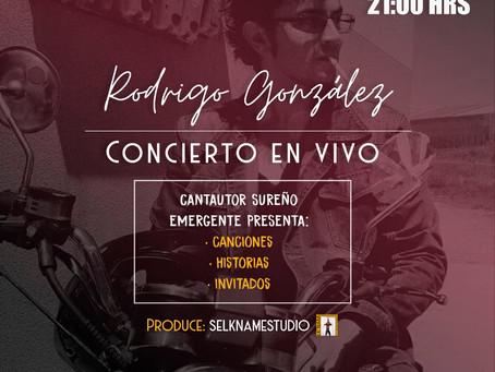 """""""Concierto en Vivo Online"""": Rodrigo González"""