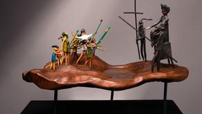 """Escultura """"Las Guerras del Agua"""": Robinson Barría"""