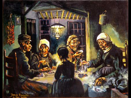 """Pintura """"El curanto de Vicente"""": Javier Mansilla"""