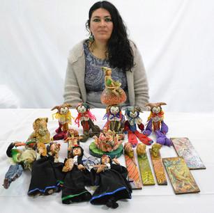 Esculturas en Aserrín y Pinturas al Oleo