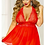 Thumbnail: Fly Girl Babydoll & Panty Set in Red