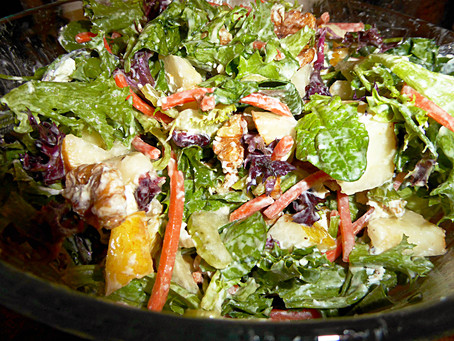 Winter Antidote:  Goat Cheese and Pear Salad