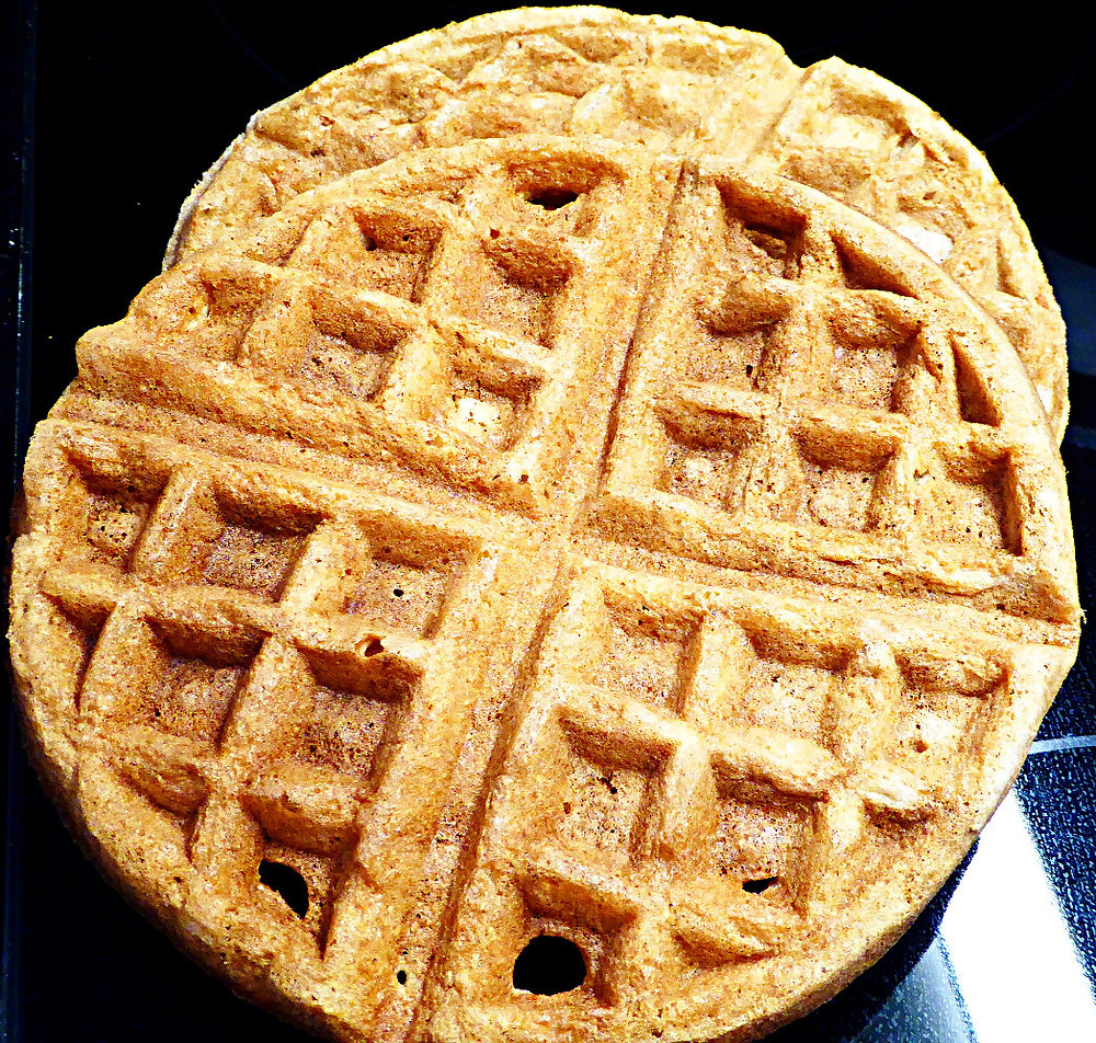 Whole-Wheat Sourdough Waffles