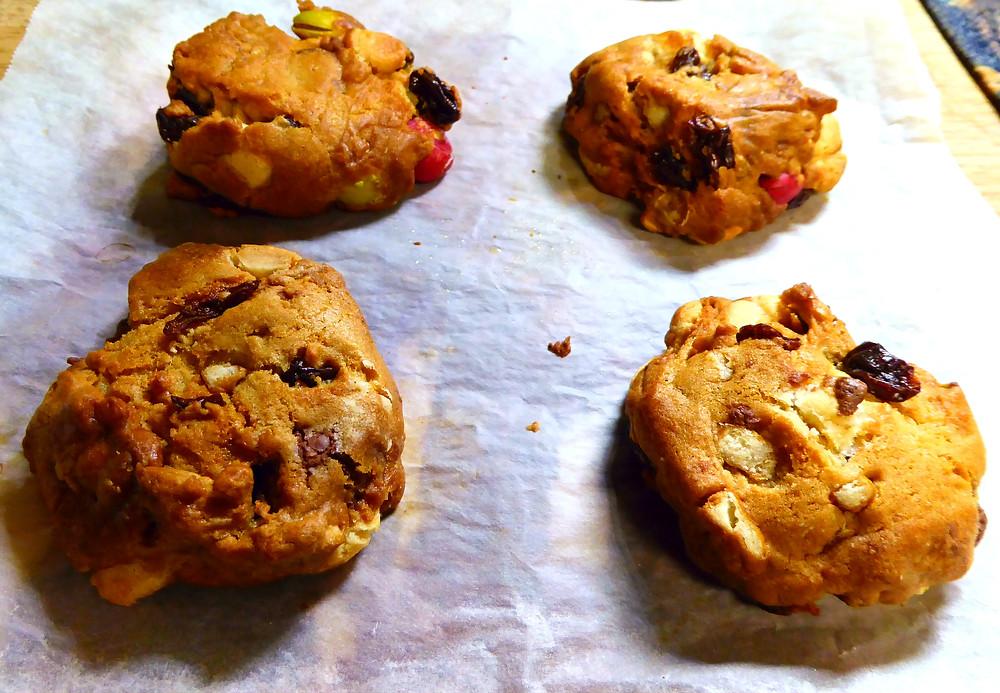 Air Fryer Trail Mix Kitchen Sink Cookies