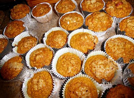 Baking Week:  Banana-Mango Muffins