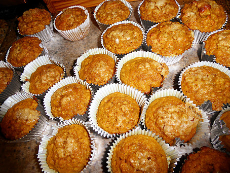 Baking Week:  Banana-Mango Muffins