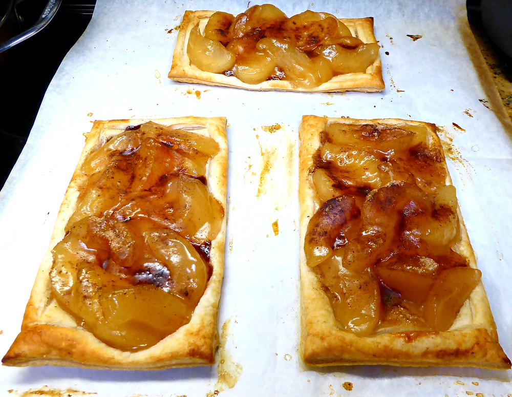 Apple Pies Made with Puff Pastry and Apple Pie Filling