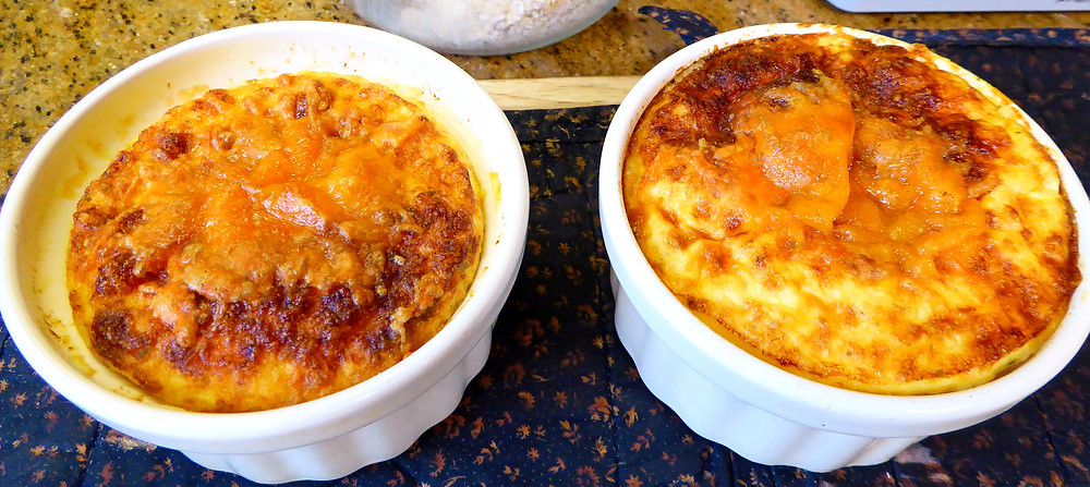 How to Make Cheese and Grits Souffle Casseroles in Your Air Fryer