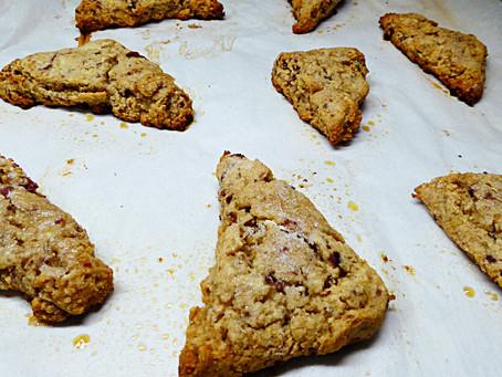 Excess Sourdough Starter?  Make Ginger-Berry Scones