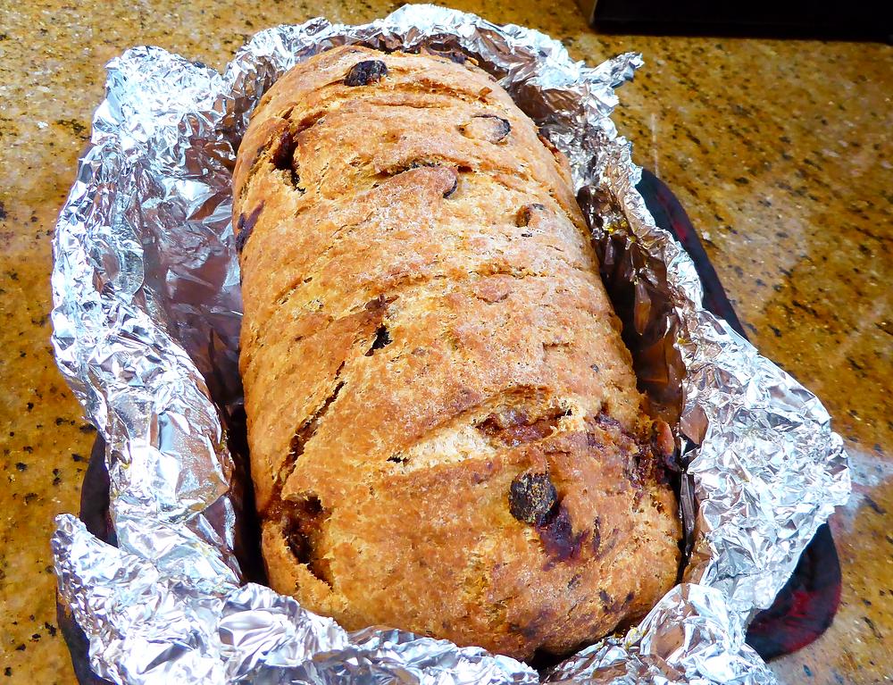 Sourdough Discard Rum Raisin Cinnamon Swirl Bread