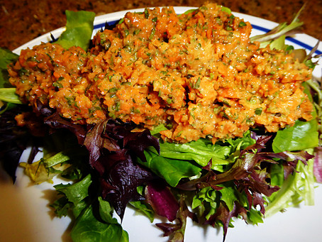 Gluten Free and Different:  Carrot Tabouleh Salad