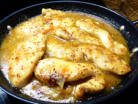 Simple Friday Night Dinner:  Skillet Apricot-Dijon Chicken Breasts