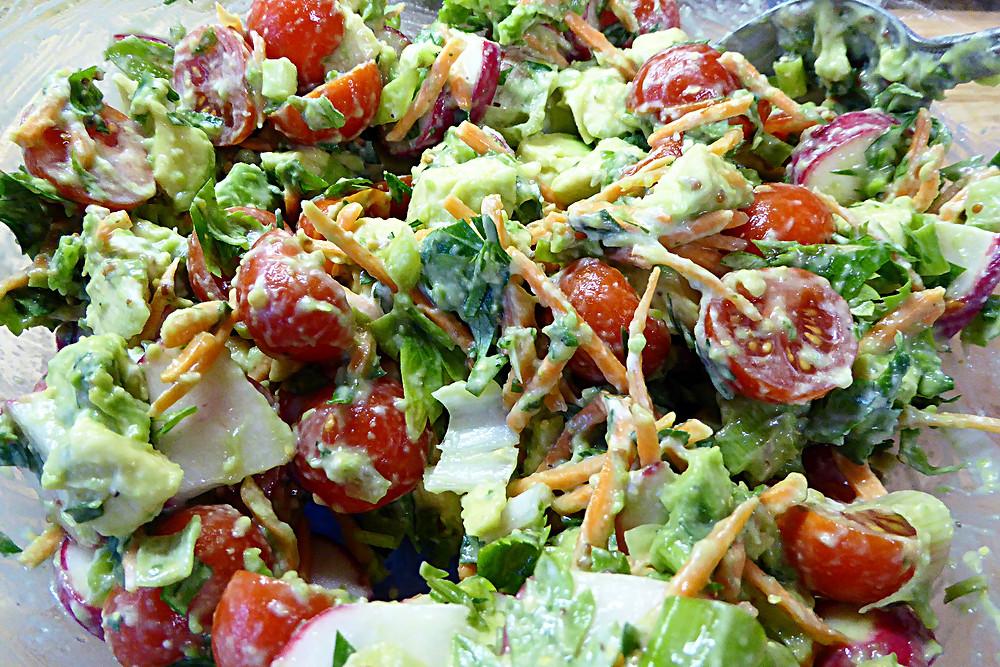 Going Green Avocado Salad