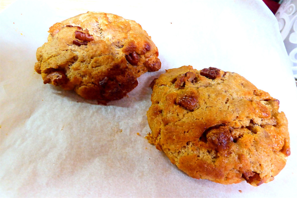 Discard Day?  Too Hot to Bake?  Make Sourdough Butterscotch Pecan Scones in the Air Fryer