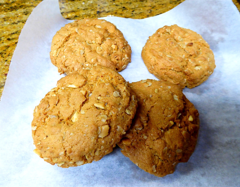 Air Fryer Oatmeal Peanut Butter Cookies Fast and Easy and Bakery Style