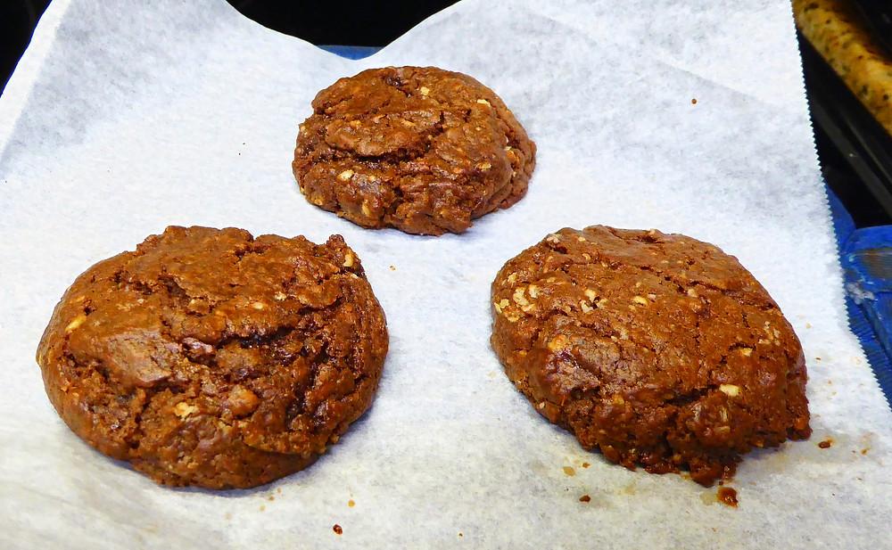 Air Fryer Easy Nutella Chocolate Hazelnut Oatmeal Cookies