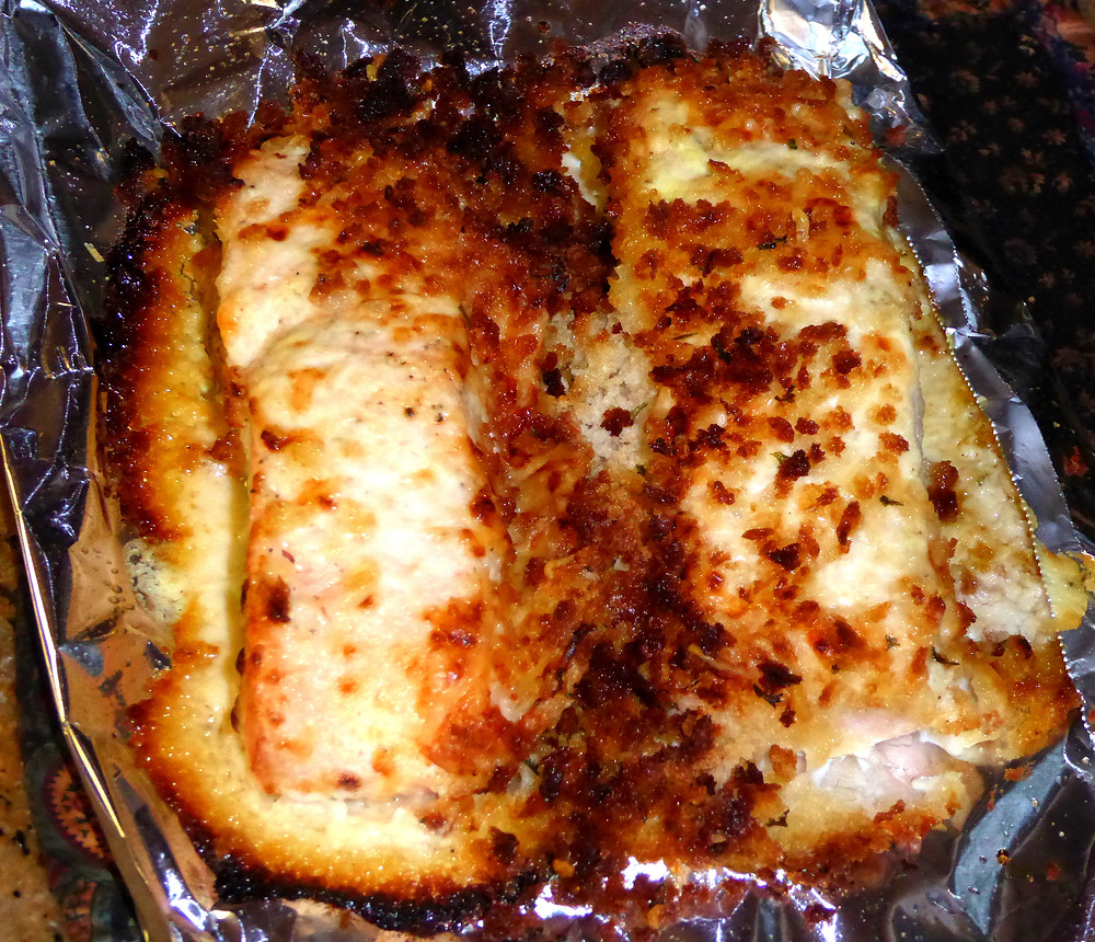 Air Fryer Simple Caesar Salmon