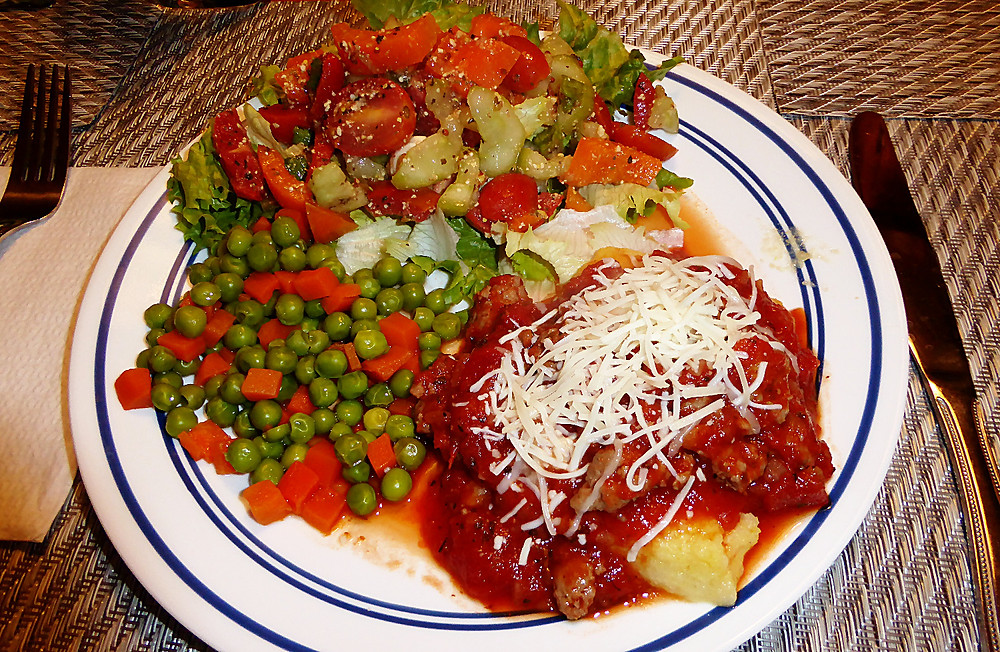 Baked Polenta with Sauce