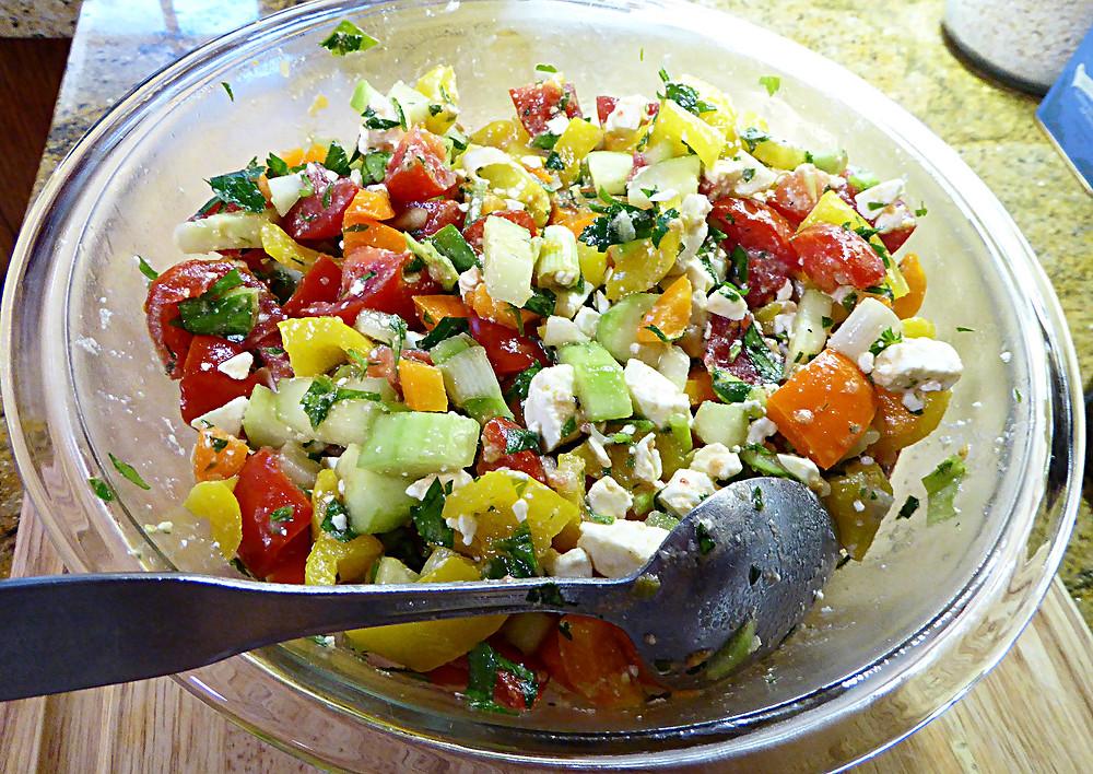 Tricolor Bell Pepper Salad