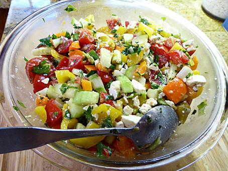 Tricolor Bell Pepper Salad:  Confetti in a Bowl