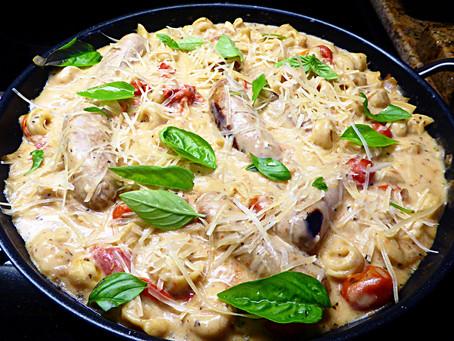 Low-Fat One-Pot Dinner:  Turkey Sausage with Tortellini