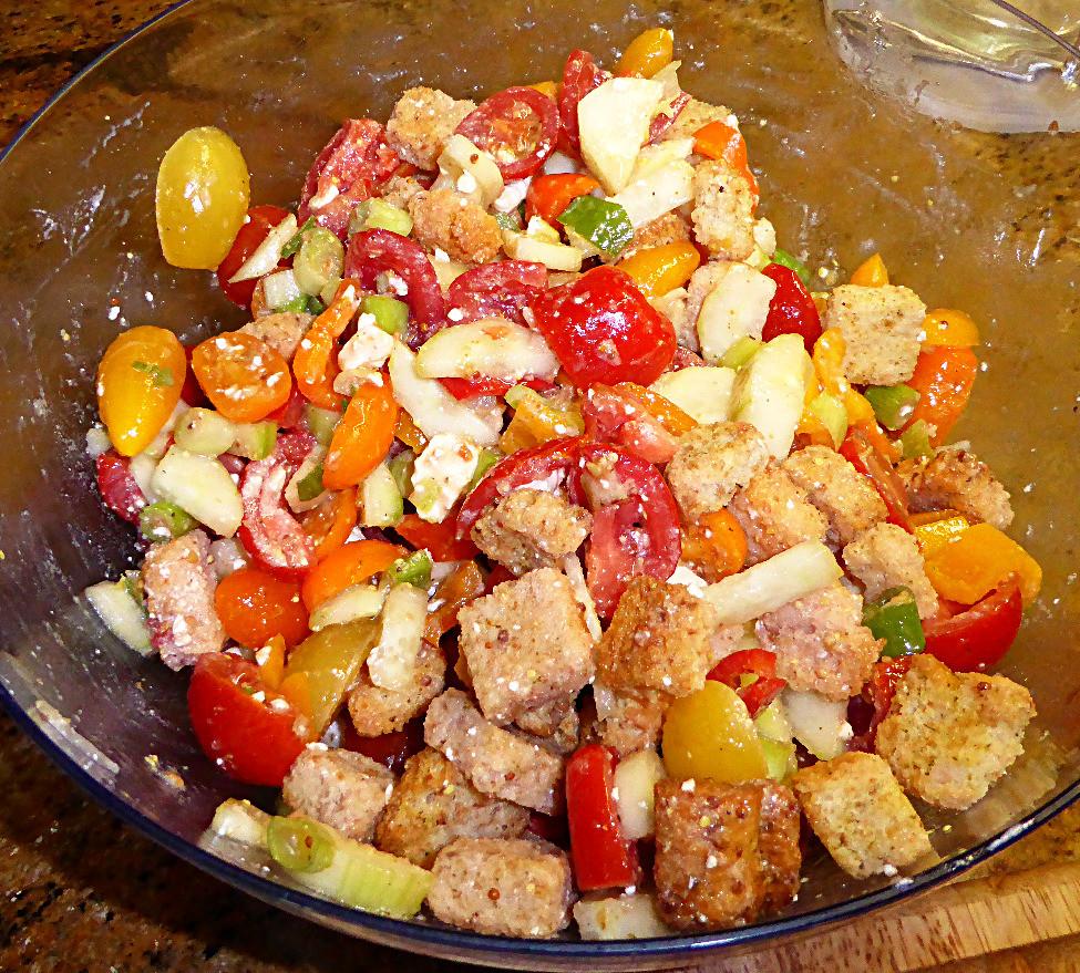 Easier Panzanella:  Italian Bread Salad