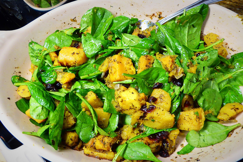 Butternut Squash and Spinach Bake