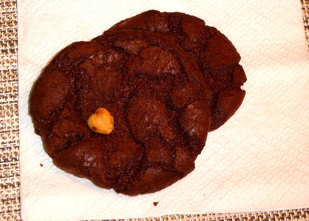 Air Fryer Chewy Chocolate Hazelnut Cookies