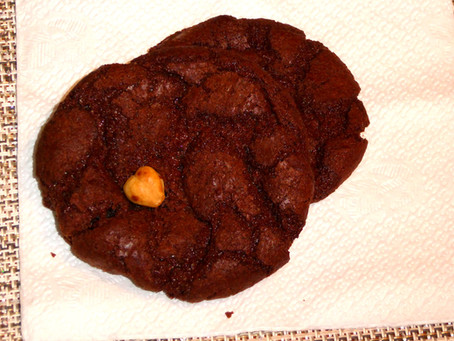 Air Fryer Cookies:  Chewy Chocolate Hazelnut