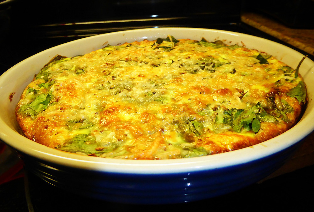 Meatless Main No-crust Spinach Quiche