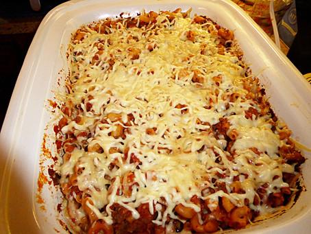 Back to School Supper:  Macaroni-Beef Bake