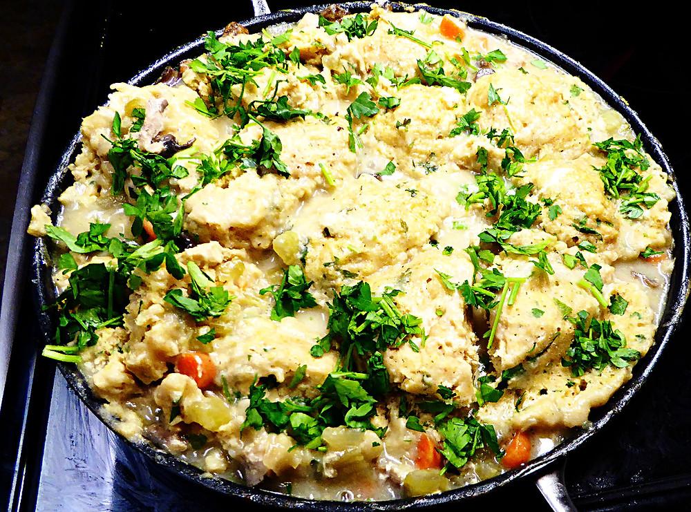 Chicken and Sourdough Dumplings