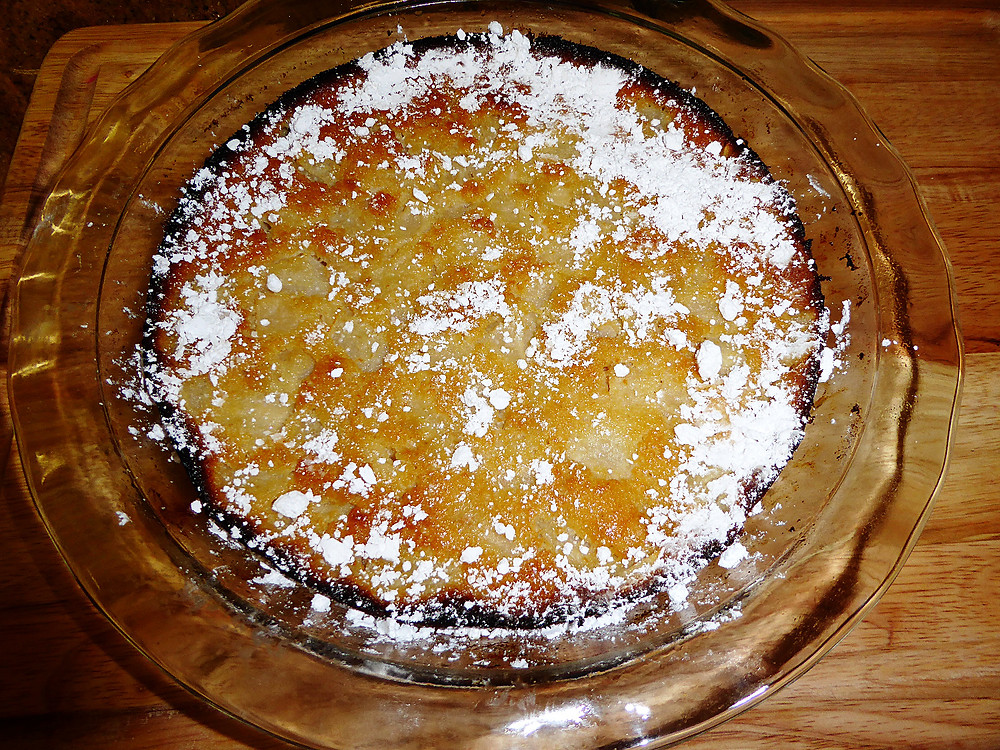 ginger pear clafoutis or flaugnard
