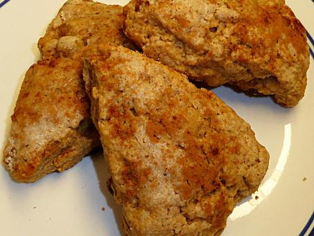 Monday Sourdough:  Cinnamon-Raisin Scones