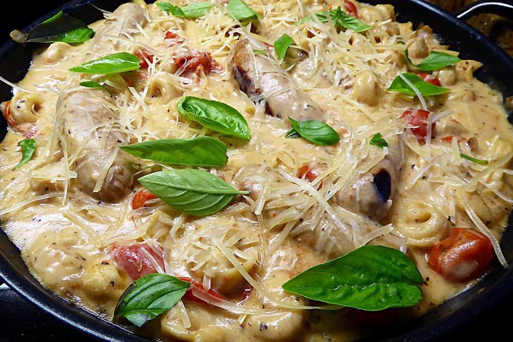 Low-Fat Turkey Sausage with Tortellini