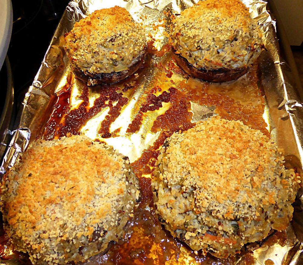 Ground Chicken-Stuffed Portobello Mushrooms