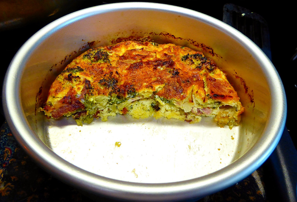 Have Leftover Broccoli?  Make a Quick Broccoli and Ham Frittata in Your Air Fryer
