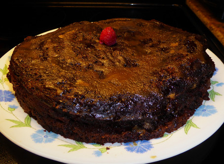 """Better Than Flourless Chocolate Cake:  Steamed Chocolate """"Pudding"""" Cake"""